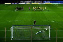 Edward Upson of Bristol Rovers has his penalty saved by Jack Stevens of Oxford United in the shootout - Mandatory by-line: Robbie Stephenson/JMP - 06/10/2020 - FOOTBALL - Kassam Stadium - Oxford, England - Oxford United v Bristol Rovers - Leasing.com Trophy