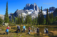 Landscape photographers on a workshop in Bugaboo Provincial Park, B.C.