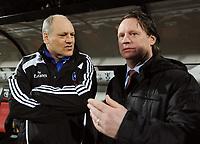 Fotball<br /> Tyskland<br /> Foto: Witters/Digitalsport<br /> NORWAY ONLY<br /> <br /> 18.02.2009<br /> <br /> v.l. Trainer Martin Jol HSV, Trainer Mario Been NEC<br /> UEFA-Cup Zwischenrunde NEC Nijmegen - Hamburger SV