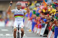 CYCLING - TOUR DE FRANCE 2011 - STAGE 13 - Pau > Lourdes ( 152,5km) - 15/07/2011 - PHOTO : VINCENT CURUTCHET / DPPI - THOR HUSHOVD (NOR) / GARMIN - CERVELO / WINNER