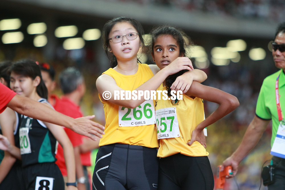 Nanyang Girls' High (NYGH) won the C Division Girls' 4x400m relay final at the 57th National Schools Track and Field Championships.<br /> <br /> The quartet of Ngoh Ye Xin, Woo Ern Xi, Elizabeth-Ann Tan, and Wu Shu Han clocked 4 minutes 17.23 seconds in a fight to the finish.