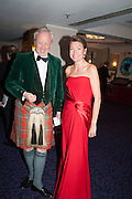 LOUIS GREIG; CHARLOTTE SALFORD, The Royal Caledonian Ball 2013. The Great Room, Grosvenor House. Park lane. London. 3 May 2013.