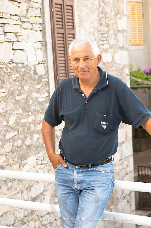 Frano Banicevic, the previous generation winemaker, father of Paval who now runs the winery. Toreta Vinarija Winery in Smokvica village on Korcula island. Vinarija Toreta Winery, Smokvica town. Peljesac peninsula. Dalmatian Coast, Croatia, Europe.