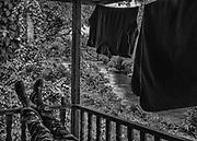 Trois-Sauts, Guyane, 2015.<br /> <br /> Fin de mission pour un gendarme mobile de Camopi en déplacement à Trois-Sauts.