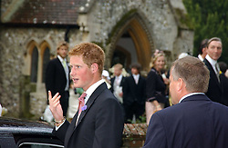 PRINCE HARRY at the wedding of Tom Parker Bowles to Sara Buys at St.Nicholas Church, Rotherfield Greys, Oxfordshire on 10th September 2005.<br /><br />NON EXCLUSIVE - WORLD RIGHTS