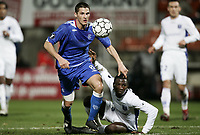Fotball<br /> Frankrike<br /> Foto: Dppi/Digitalsport<br /> NORWAY ONLY<br /> <br /> FOOTBALL - UEFA CUP 2006/2007 - GROUP A - AJ AUXERRE v RANGERS GLASGOW - 23/11/2006 - JEREMY CLEMENT (RAN) / ISSA BA (AUX)