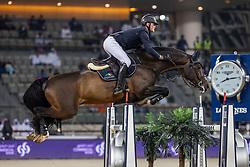 TEBBEL Maurice (GER), Don Diarado<br /> Doha - CHI Al SHAQAB 2020<br /> Commercial Bank CHI Al Shaqab Grand Prix presented by LONGINES<br /> Int. jumping competition over two rounds and jump-off (1.60 m)<br /> 29. Februar 2020<br /> © www.sportfotos-lafrentz.de/Stefan Lafrentz