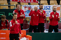 Team Poland at doubles during the Day 2 of Davis Cup 2018 Europe/Africa zone Group II between Slovenia and Poland, on February 4, 2018 in Arena Lukna, Maribor, Slovenia. Photo by Vid Ponikvar / Sportida