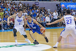 November 27, 2017 - Cubao, Quezon City, Philippines - Jayson William driving to the basket against Yi-Hsiang Chou.Gilas Pilipinas defended their home against Chinese Taipei. Game ended at 90 - 83. (Credit Image: © Noel Jose Tonido/Pacific Press via ZUMA Wire)