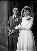 1952 Wedding, Mr Herbert Scarry and Miss L. O'Connor