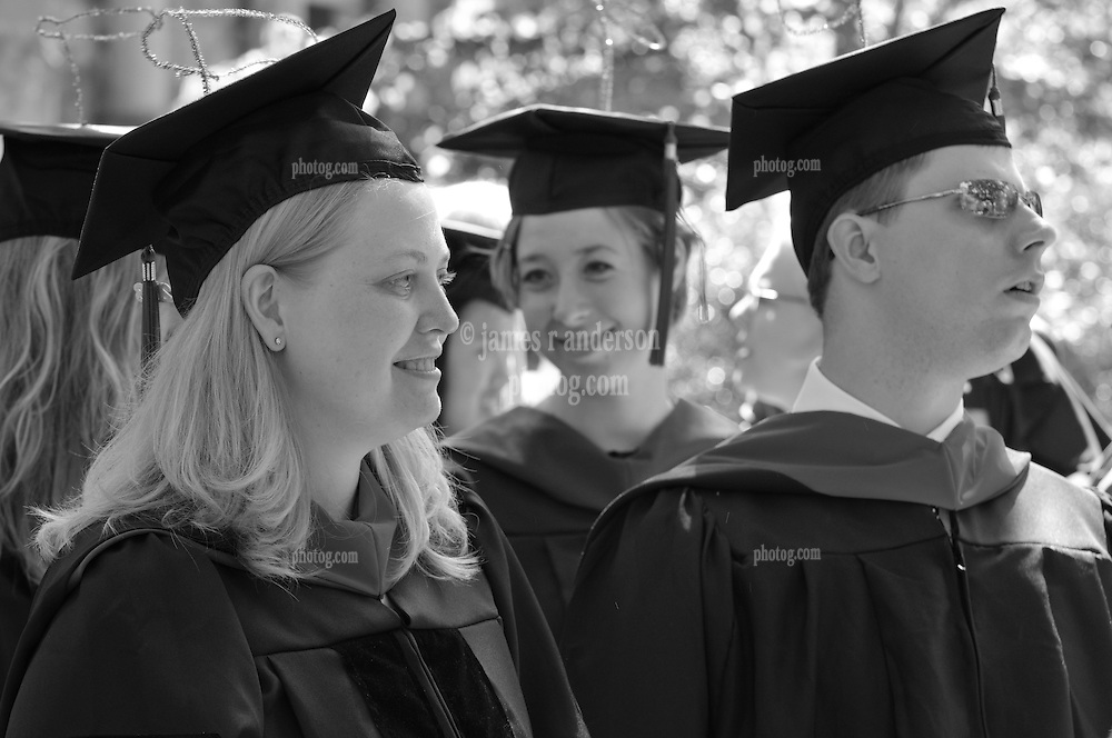 """They're ready to receive """"These Degrees"""" at Yale Commencement 2008, Procession and Ceremonies on Old Campus, Yale University, New Haven, CT"""