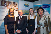 NO FEE PICTURES<br /> 23/1/16 Minister for Tourism Michael Ring and Maureen Ledwith, organiser of the Holiday World Show at the Oranmore Hotel stand at the Holiday World Show at the RDS in Dublin. Picture: Arthur Carron