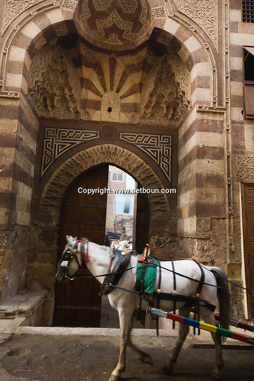 Egypt . Cairo : Qait Bay wakala, sabil- fountain- kuttab in  Al Azhar mosque area .  islamic Cairo     NM75 NM76