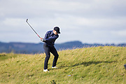 5th October 2017, The Old Course, St Andrews, Scotland; Alfred Dunhill Links Championship, first round; Ronan Keating finds his ball in the rough