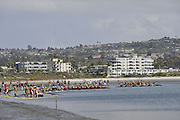 San Diego, California. USA. General Views, Crews boating from the beach. 2013 Crew Classic Regatta, Mission Bay.  12:04:45.  Saturday  06/04/2013   [Mandatory Credit. Peter Spurrier/Intersport Images]  ..
