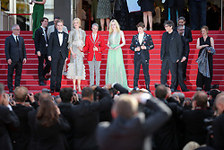 Nicole Kidman, John Cameron Mitchell, Elle Fanning, Alex Sharp, Neil Gaiman and guest depart after the 'How To Talk To Girls At Parties' screening during the 70th annual Cannes Film Festival at Palais des Festivals on May 21, 2017 in Cannes, France. Photo by Shootpix/ABACAPRESS.COM