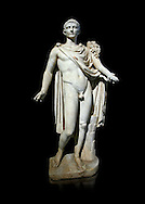 Roman marble sculpture of a male figure restored as Augustus 2nd century AD, inv no 6053,Naples Museum of Archaeology, Italy ..<br /> <br /> If you prefer to buy from our ALAMY STOCK LIBRARY page at https://www.alamy.com/portfolio/paul-williams-funkystock/greco-roman-sculptures.html . Type -    Naples    - into LOWER SEARCH WITHIN GALLERY box - Refine search by adding a subject, place, background colour, etc.<br /> <br /> Visit our ROMAN WORLD PHOTO COLLECTIONS for more photos to download or buy as wall art prints https://funkystock.photoshelter.com/gallery-collection/The-Romans-Art-Artefacts-Antiquities-Historic-Sites-Pictures-Images/C0000r2uLJJo9_s0