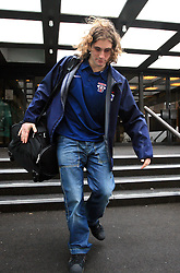 Robert Kristan - Lix at Slovenian National team packing and going from Citadel Hotel to the Halifax airport, when they finished with games at IIHF WC 2008 in Halifax, on May 11, 2008, Canada. (Photo by Vid Ponikvar / Sportal Images)