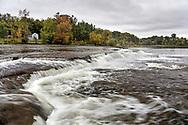 Pakenham Falls on the Mississippi River just below the Five Span Stone Bridge in Pakenham, Ontario, Canada.