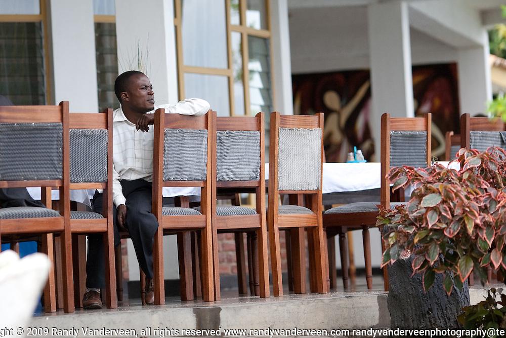 kibuye and nyrasunge Rwanda.Photo Randy Vanderveen.Kigali, Rwanda.A Rwandan man