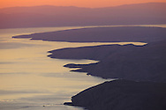 View from North Velebit National Park over island of Krk and Istria, Velebit Nature Park, Dalmatian coast, Adriatic sea, Croatia