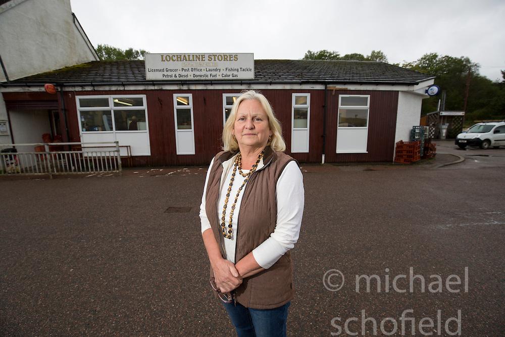 Watch manager Lesley Jones .runs the Lochaline Stores. Lochaline Retained Fire Crew jobs feature.