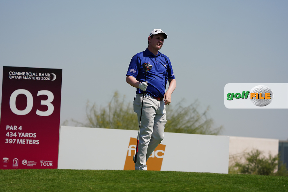 Robert Macintyre (SCO) on the 3rd during Round 2 of the Commercial Bank Qatar Masters 2020 at the Education City Golf Club, Doha, Qatar . 06/03/2020<br /> Picture: Golffile   Thos Caffrey<br /> <br /> <br /> All photo usage must carry mandatory copyright credit (© Golffile   Thos Caffrey)