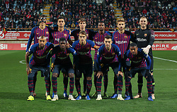 October 31, 2018 - Leon, Leon, Spain - Alignament of Barcelona in action during the King Spanish championship, , football match between Cultural Leonesa and Barcelona, October 31, in Reino de Leon Stadium in Leon, Spain. (Credit Image: © AFP7 via ZUMA Wire)
