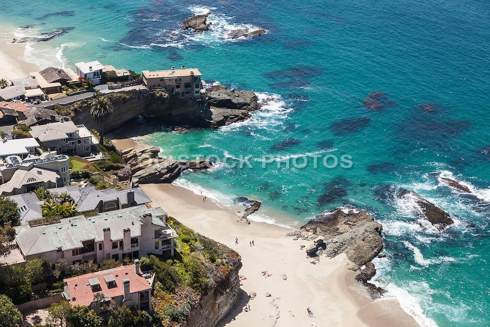 Aerial Stock Photo of Laguna Beach Coastline