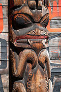 The nonprofit 'Ksan Historical Village is a living museum of the Gitxsan Indigenous people, reconstructed in 1970 in the Skeena Country of Northwestern British Columbia, Canada. See impressive cultural artworks painted on longhouses and carved in totem poles. 'Ksan is near Hazelton at the confluence of the Skeena and Bulkley Rivers on Gitxsan territory. 'Ksan was founded in 1866 (before Hazelton) and was populated by the Gitxsan Indigenous people.