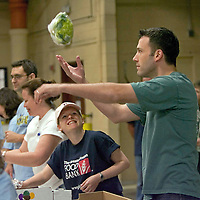 Ben Affleck palys at a Boston,MA charitable event for the Greater Boston Foodbank. Photo by Mark Garfinkel
