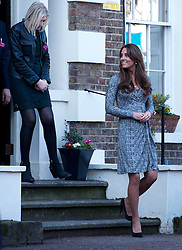 © London News Pictures. 19/02/2013. London, UK.  Catherine Duchess of Cambridge leaving Hope House addiction centre for women in South London on February 19, 2013. The Duchess met clients and staff at Hope House, which is a 23-bed residential treatment centre for women with substance dependance. The Action Photo credit: Ben Cawthra/LNP