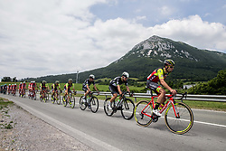 Ryan Gibbons (RSA) of Team Dimension Data, Matteo Draperi (ITA) of Wilier Triestina-Selle Italia during Stage 1 of 24th Tour of Slovenia 2017 / Tour de Slovenie from Koper to Kocevje (159,4 km) cycling race on June 15, 2017 in Slovenia. Photo by Vid Ponikvar / Sportida