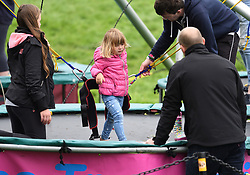 Zara, Mike and Mia Tindall attend The Bramham International Horse Trials at Bramham Park, Wetherby, Yorkshire, UK, on the 10th June 2017. 10 Jun 2017 Pictured: Mia Tindall, Mike Tindall. Photo credit: James Whatling / MEGA TheMegaAgency.com +1 888 505 6342