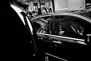 Silvio Berlusconi in auto dopo l'inaugurazione della nuova sede del partito Forza Italia. Roma, 19 settembre 2013. Christian Mantuano / OneShot <br /> <br /> Silvio Berlusconi in the car after the inauguration of the new headquarters of the party Forza Italia. Rome, 19 September 2013. Christian Mantuano / OneShot