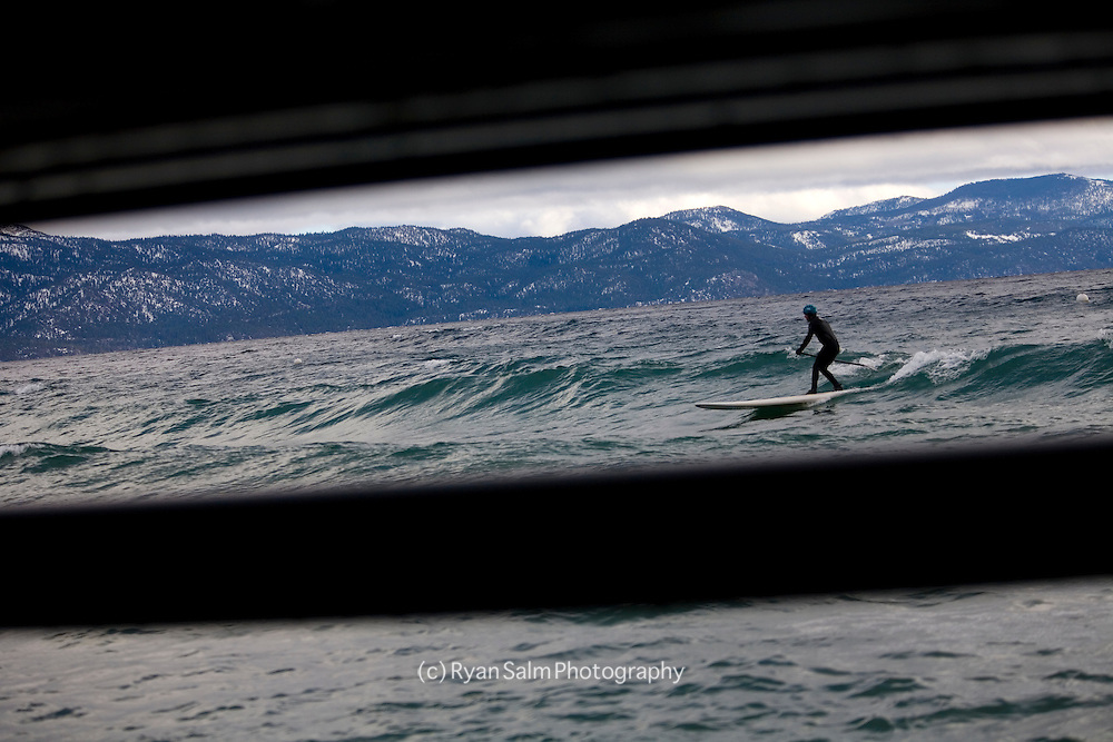 Winter surfing on Tahoe- Rob Gaffney