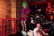 New York. Lucky chengs  drag queen  restaurant  in east village Manhatan, New York  Usa /  Lucky cheng s  drag queen  restaurant  a theme. Manhatan, New York  USa