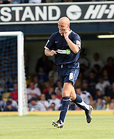 Photo: Chris Ratcliffe.<br />Southend United v Sunderland. Coca Cola Championship. 19/08/2006.<br />Adam Barrett of Southend celebrates scoring the second Southend  goal.