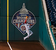 Washington Nationals outfielder Juan Soto makes a catch in right field against the New York Mets on September 24, 2020 at Nationals Park.