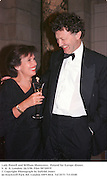 Lady Powell and William Shawcross.  Poland for Europe dinner. V. &  A. London. 26/3/98. Film 98720f19<br />© Copyright Photograph by Dafydd Jones<br />66 Stockwell Park Rd. London SW9 0DA<br />Tel 0171 733 0108
