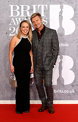 February 21, 2019 - London, London, United Kingdom - Image licensed to i-Images Picture Agency. 20/02/2019. London, United Kingdom.  Torvill & Dean at the Brit Awards in London. (Credit Image: © i-Images via ZUMA Press)