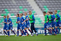 Players of Iceland after the UEFA European Under-17 Championship Group A match between Iceland and Germany on May 7, 2012 in SRC Stozice, Ljubljana, Slovenia. Germany defeated Iceland 1-0. (Photo by Vid Ponikvar / Sportida.com)