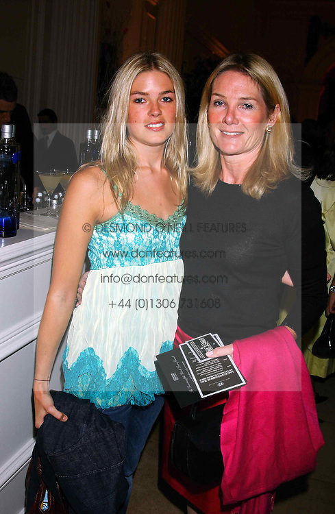 Left to right, MISS ISABELLA ANSTRUTHER-GOUGH-CALTHORPE and her mother LADY MARY GAYE CURZON at a evening to celebrate the unveiling of the British Luxury Club at The Orangery, Kensington Palace, London W8 on 16th September 2004.<br /><br />NON EXCLUSIVE - WORLD RIGHTS