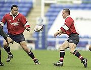 Reading. England. UK.<br />  <br /> Premiership Rugby. London Irish vs Gloucester Rugby. 16.04.2001. Madejski Stadium. <br /> <br /> [Mandatory Credit, Peter Spurrier/ Intersport Images].