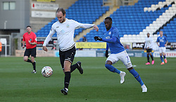 Scott Doe of Dover Athletic in action with Mohamed Eisa of Peterborough United - Mandatory by-line: Joe Dent/JMP - 01/12/2019 - FOOTBALL - Weston Homes Stadium - Peterborough, England - Peterborough United v Dover Athletic - Emirates FA Cup second round