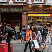 Kowloon Buffet in London Chinatown Sweet Tooth Cafe and Restaurant at Newport Court and Garret Street on 15 June 2019, UK.