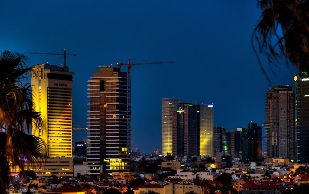 Tel-Aviv skyline at night