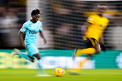 Christian Atsu of Newcastle United runs with the ball - Mandatory by-line: Robbie Stephenson/JMP - 11/02/2019 - FOOTBALL - Molineux - Wolverhampton, England - Wolverhampton Wanderers v Newcastle United - Premier League