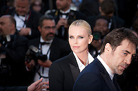 Charlize Theron, and Javier Bardem at the gala screening for the film The Last Face at the 69th Cannes Film Festival, Friday 20th May 2016, Cannes, France. Photography: Doreen Kennedy