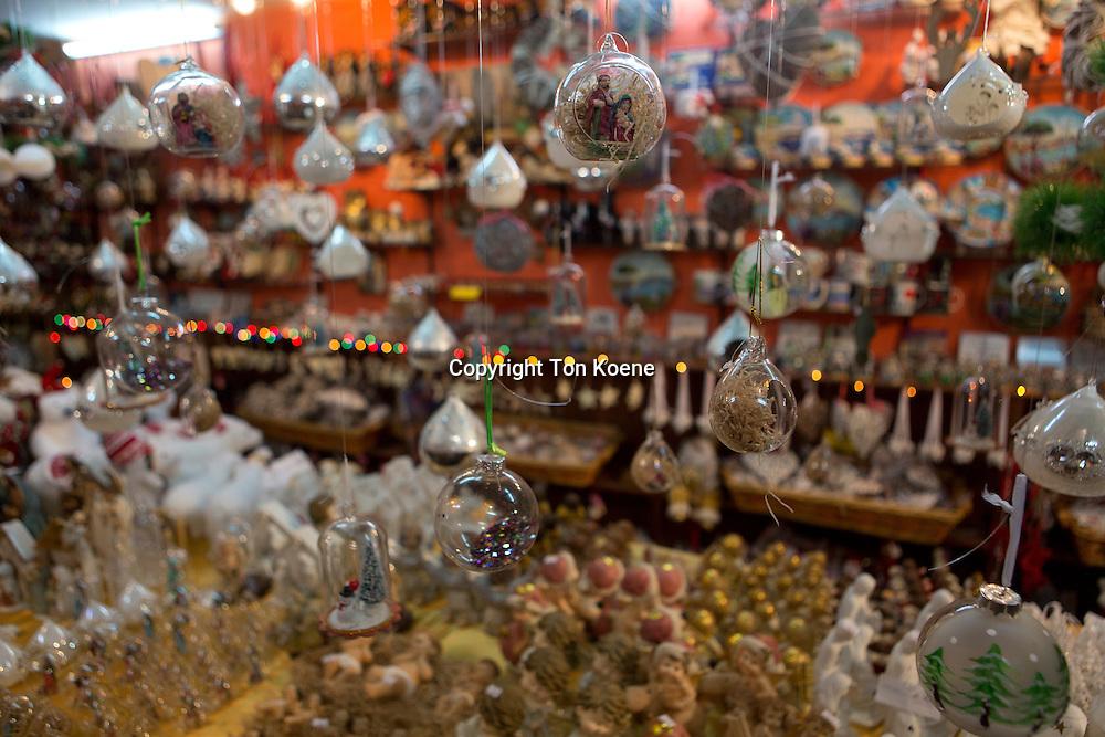 Souvenir shops in presepi street in naples